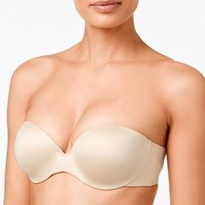 Maidenform Strapless Bra Nude Lightly Lined sz 34B